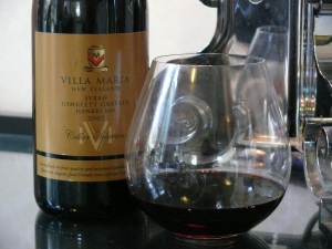 Villa Maria CS Syrah Gimblett 2007 pool room